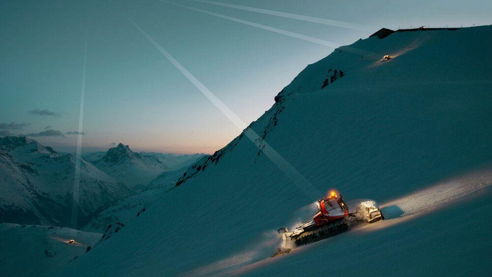 SNOWsat vernetzt die gesamte PistenBully Flotte und das gesamte Skigebiet