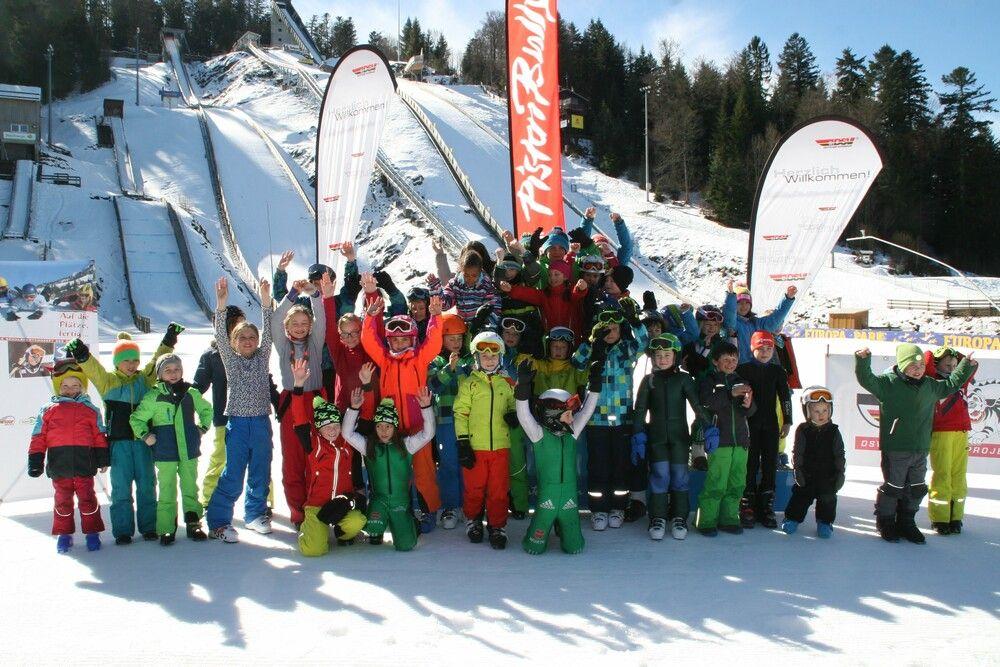 Gruppenbild bei den Mini Ski-Aktionstagen 2018