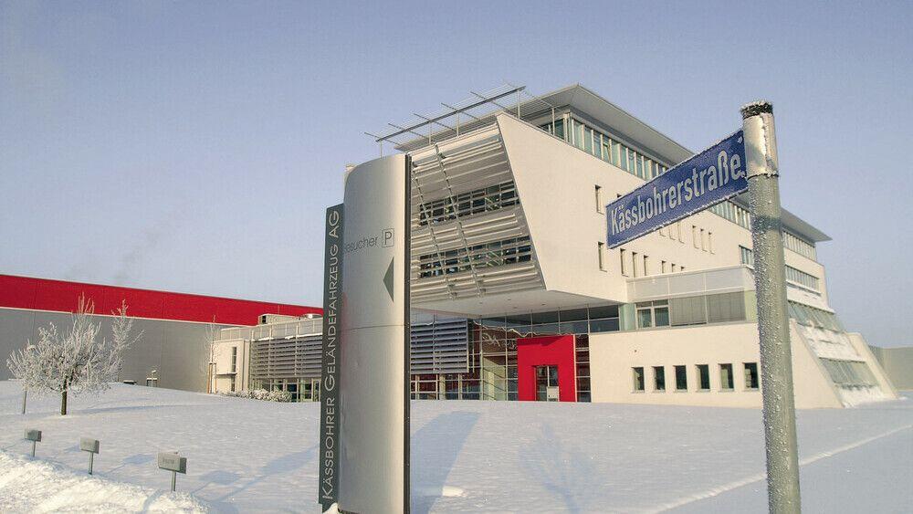 Der neue Unternehmensstandort der Kässbohrer Geländefahrzeug AG in Laupheim