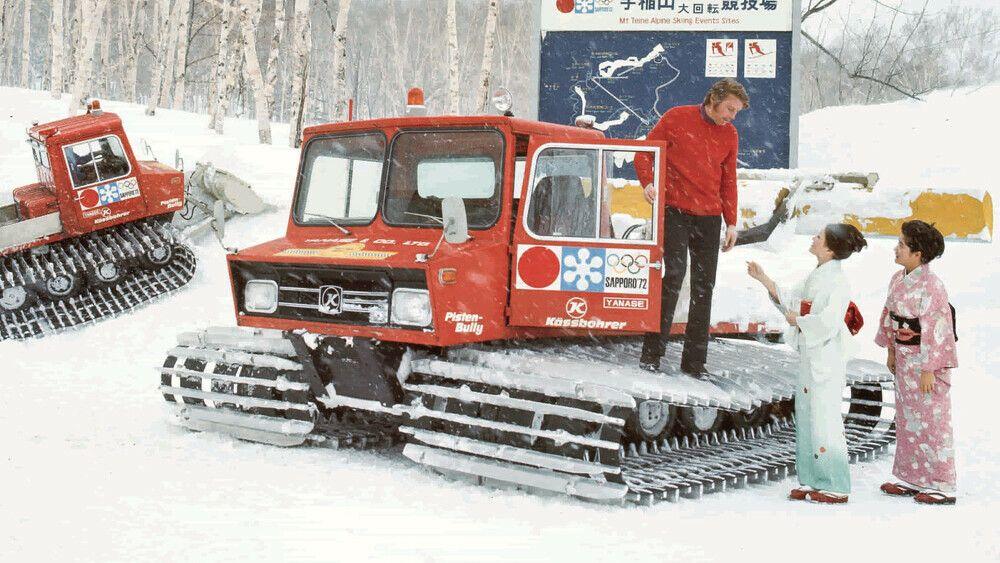 PistenBully bei den Elften Olympischen Winterspielen in Sapporo in Japan