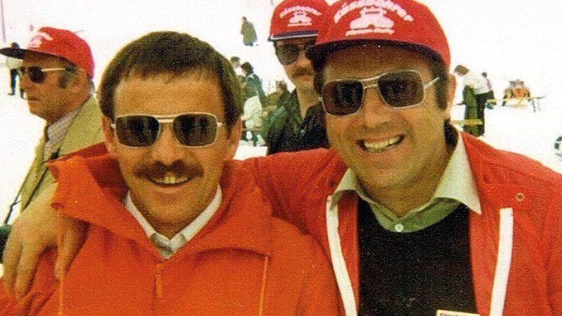 Walter Haug und Erwin Wieland Arm in Arm