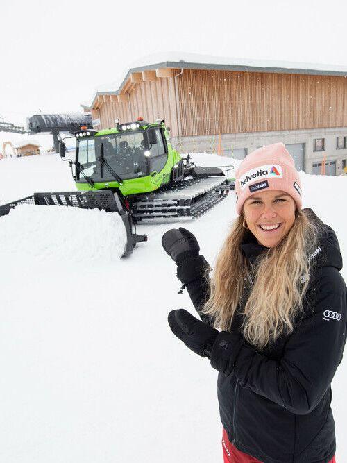 Kässbohrer PistenBully Sponsoring: Aline Danioth, Ski Alpin