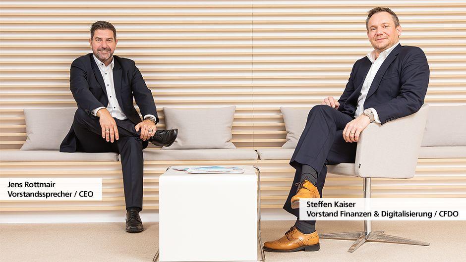 Jens Rottmair, Vorstandssprecher und Steffen Kaiser, Vorstand Finanzen und Digitalisierung